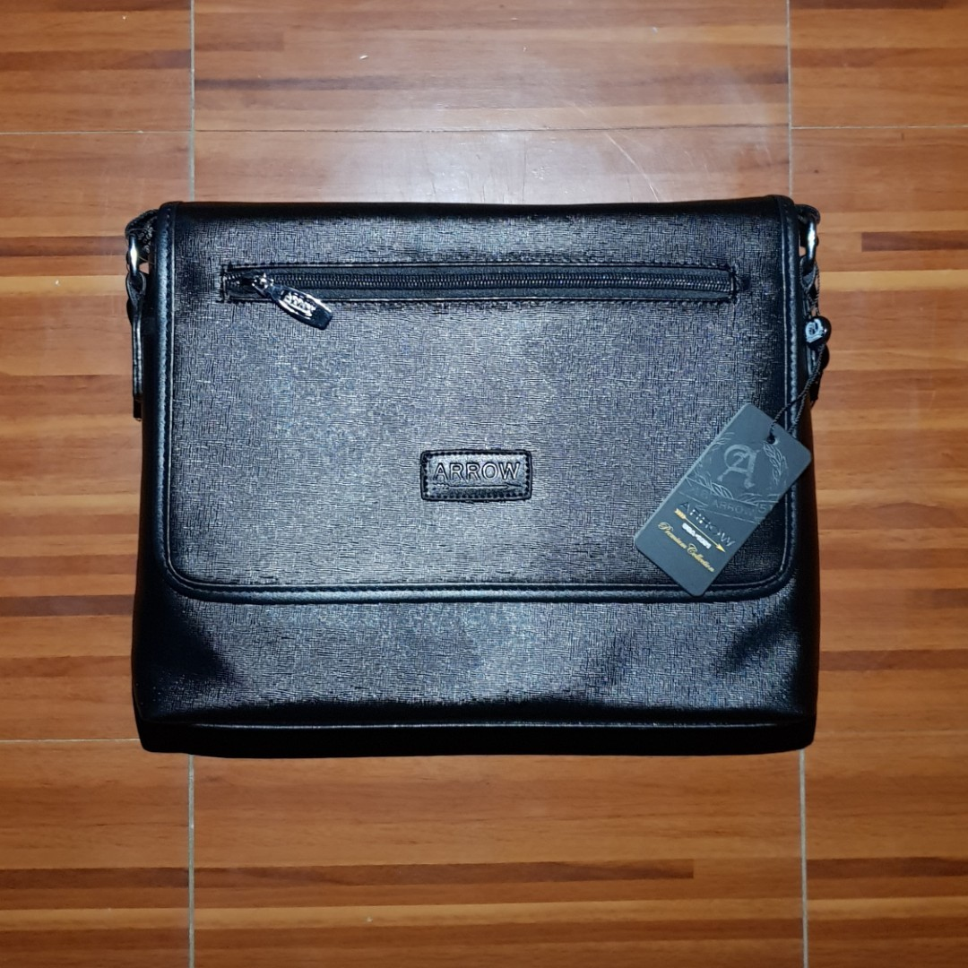 7ae7b31646be Arrow Faux Leather Messenger Bag