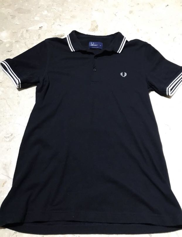 1d49f5eb9 Authentic BN Fred Perry Men Stretch Pique Navy Polo Tee, Men's ...
