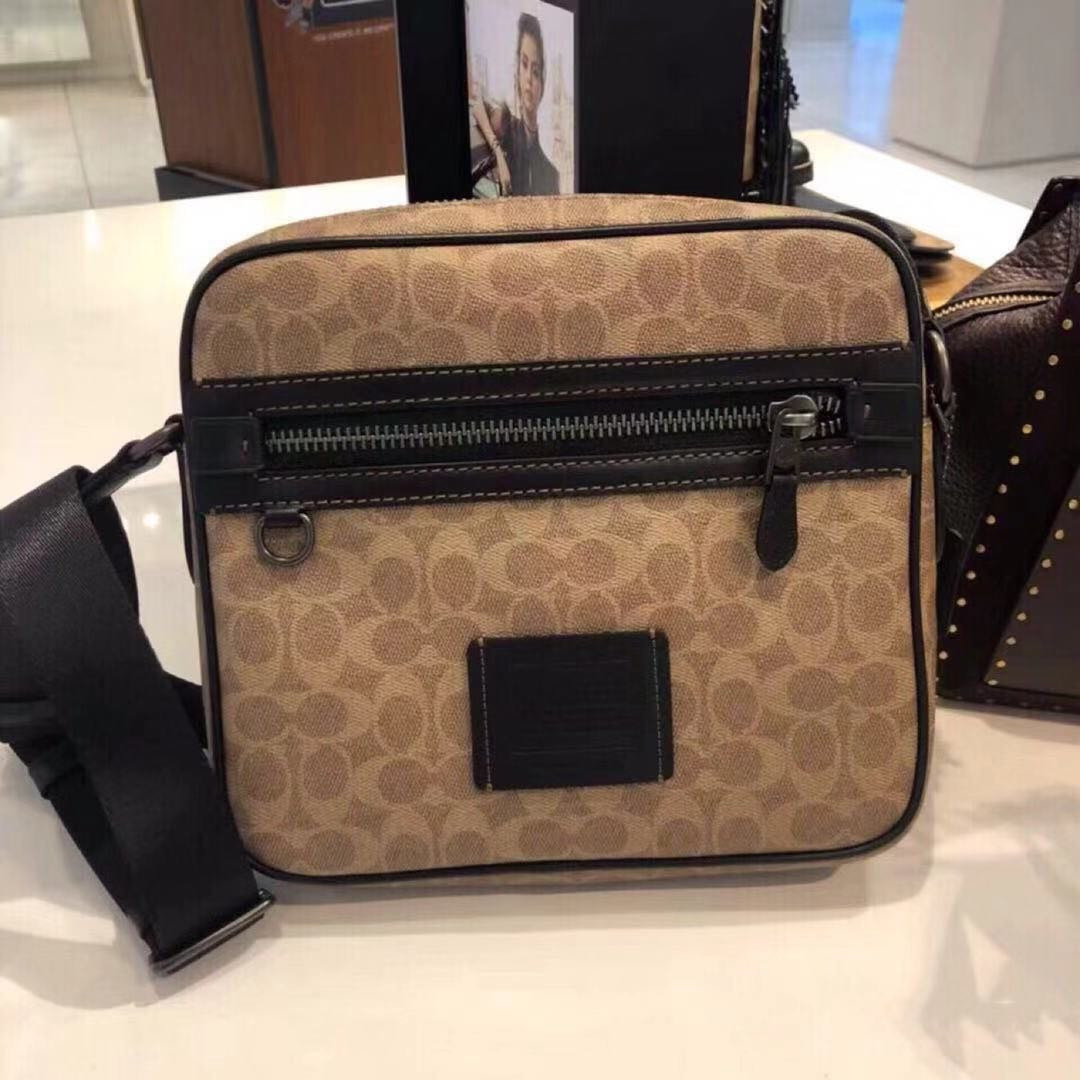 6502eb181 Authentic Coach Dylan 27 In Signature Canvas, Luxury, Bags & Wallets, Sling  Bags on Carousell