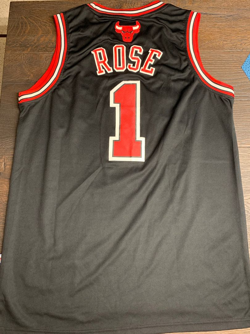 割愛 Authentic Derrick Rose Bulls Jersey 75462bd81