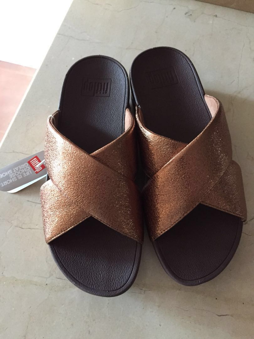 d8953ce12a900f Authentic Fitflop Lulu Molten Metal Bronze Slide (Price reduction ...