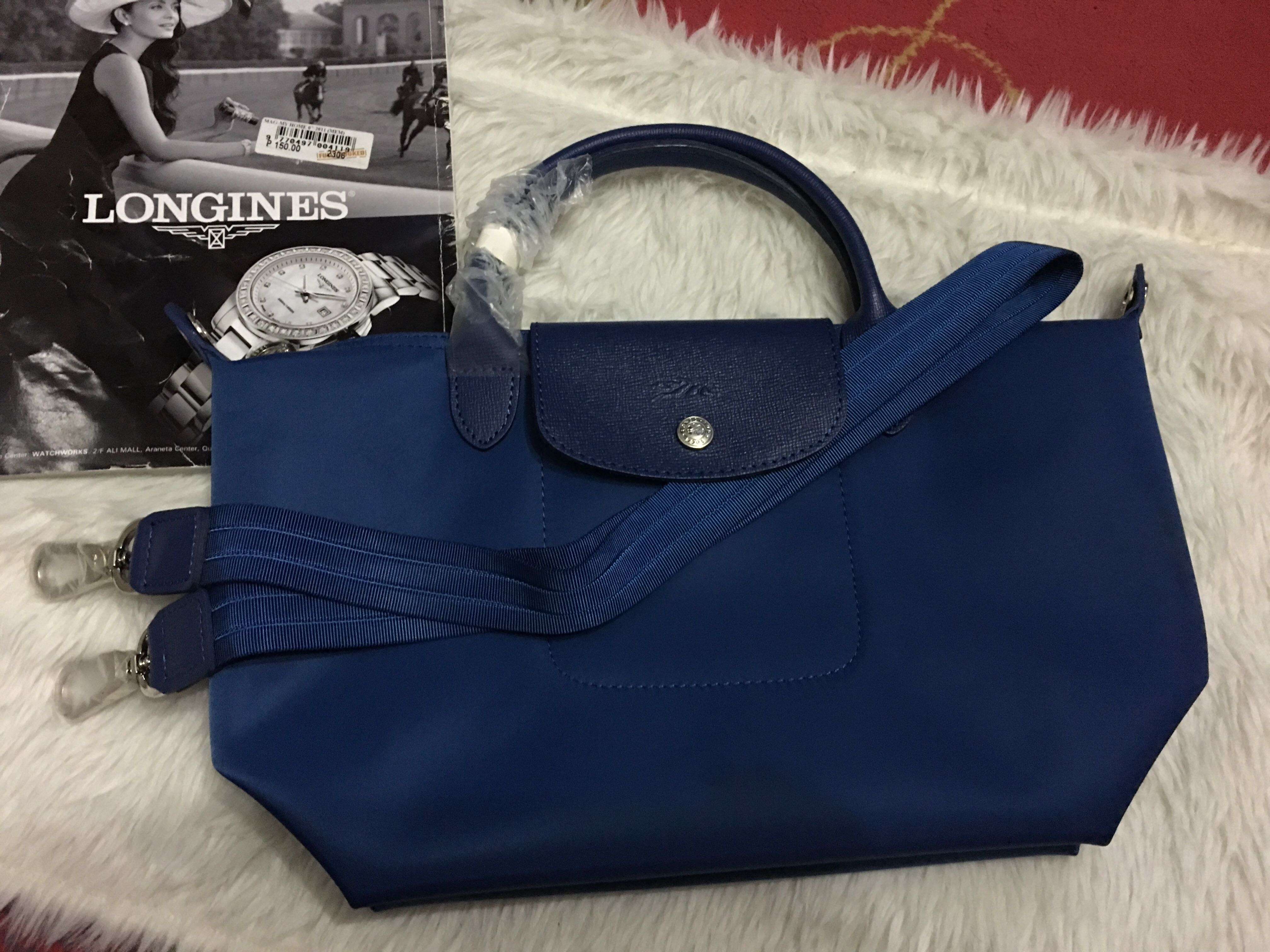 a2b420ad1f2a Authentic longchamp Neo small blue
