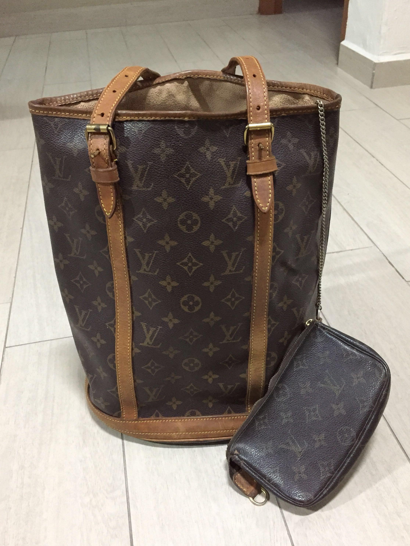Authentic Louis Vuitton Monogram Canvas Large Bucket Bag 336e516176805