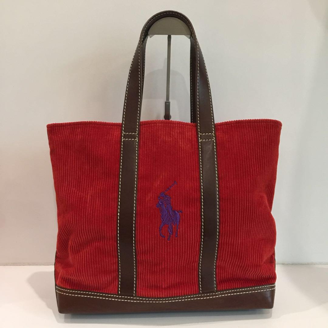 f94a8e3e5260 Authentic POLO RALPH LAUREN Red Tote Bag