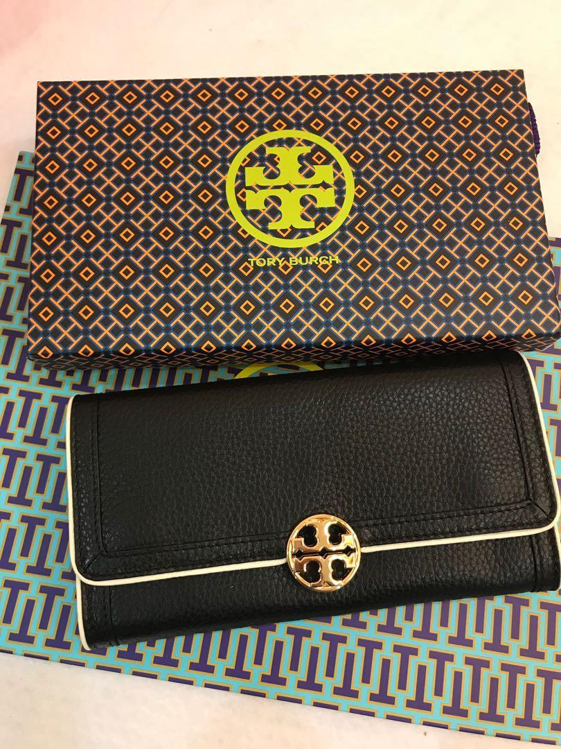 Authentic ready stock Tory Burch soft leather wallet