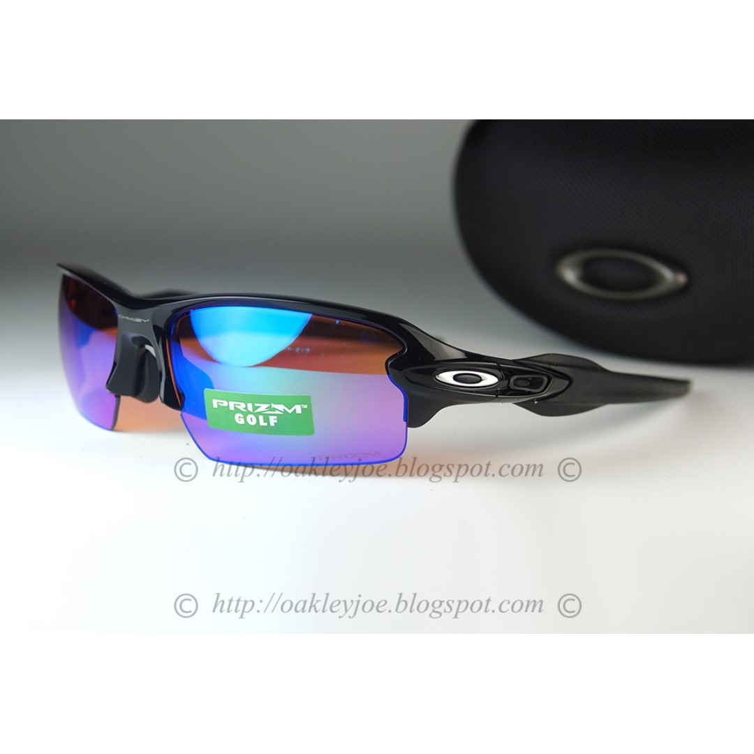 82577f7124 BNIB Oakley Flak 2.0 polished black + prizm golf OO9271-09 sunglass ...