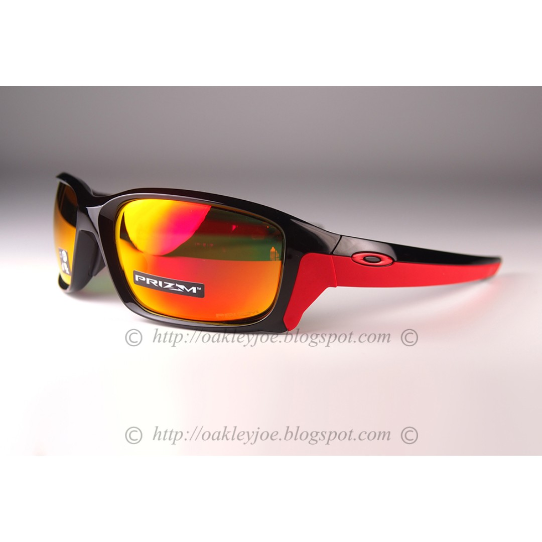 94672ad721 BNIB Oakley Straightlink Asian Fit polished black + prizm ruby ...