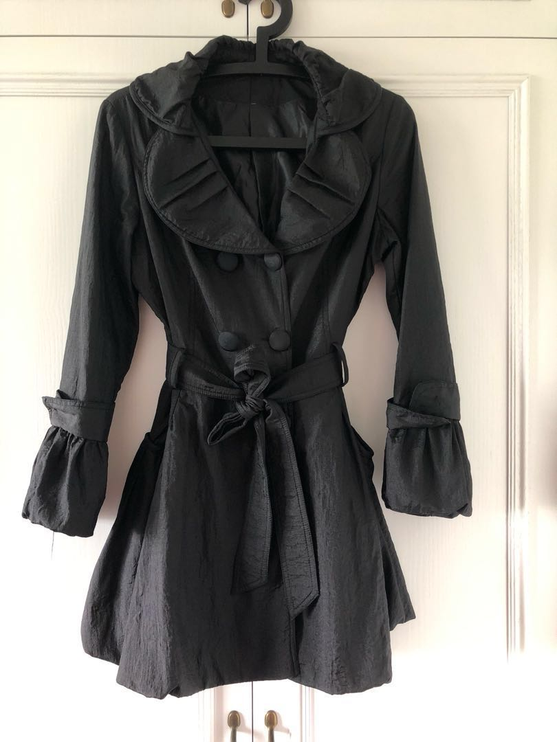 15771ffbb835 Brand New Black bubble trench coat jacket - Size S