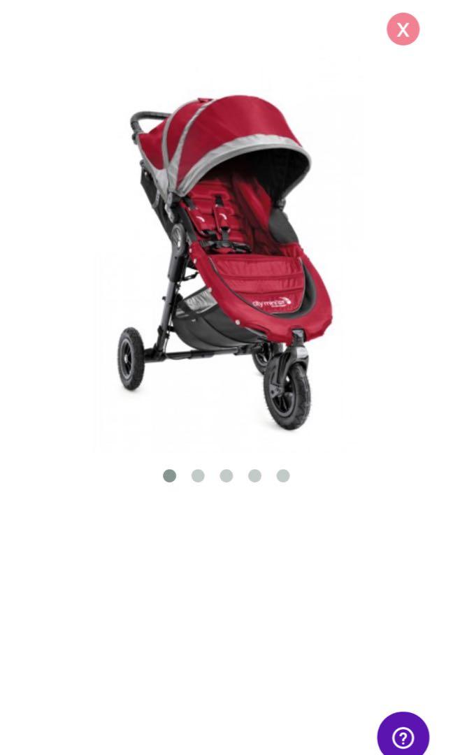 Brand New In Box City Mini Gt Single Stroller In Crimson