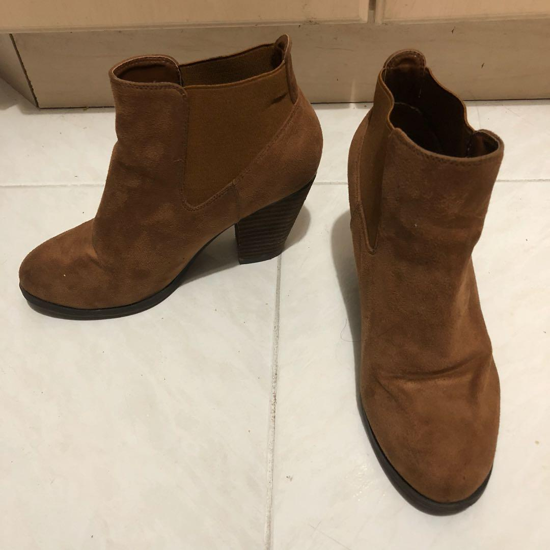 Brown Booties Size 8