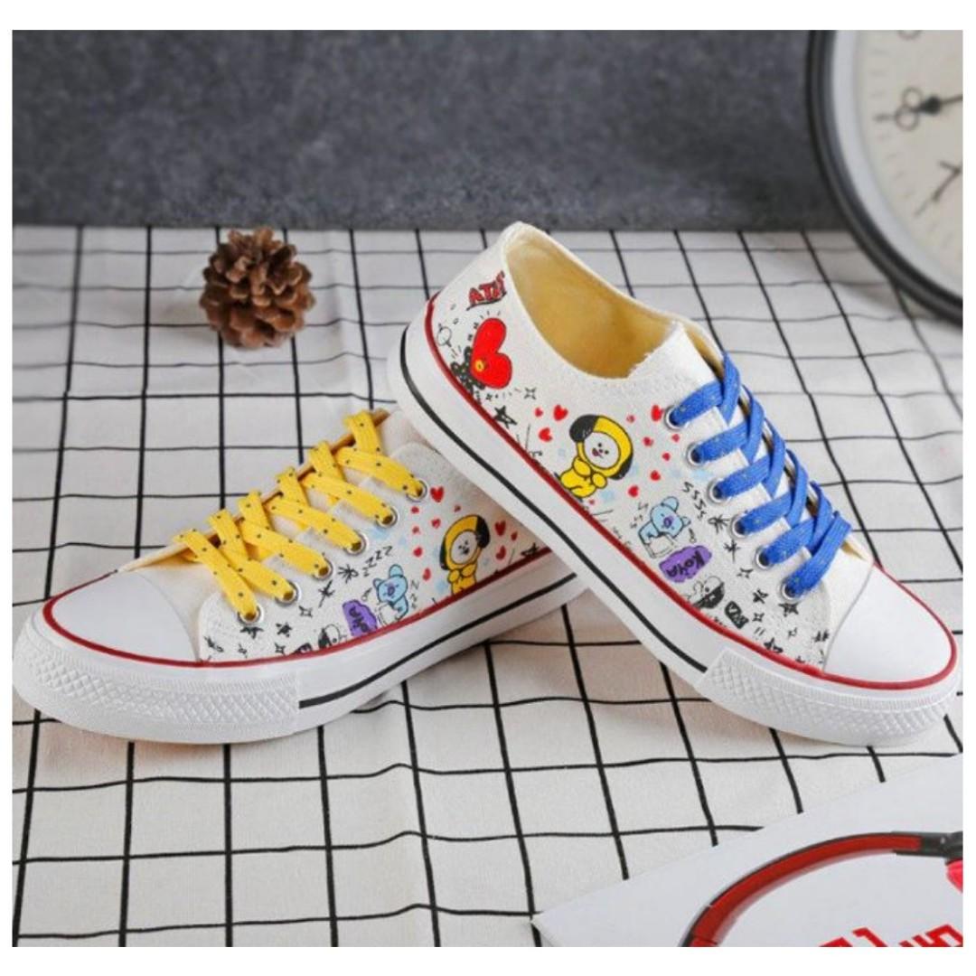 00868741d22852 BTS BT21 Canvas Shoes PO