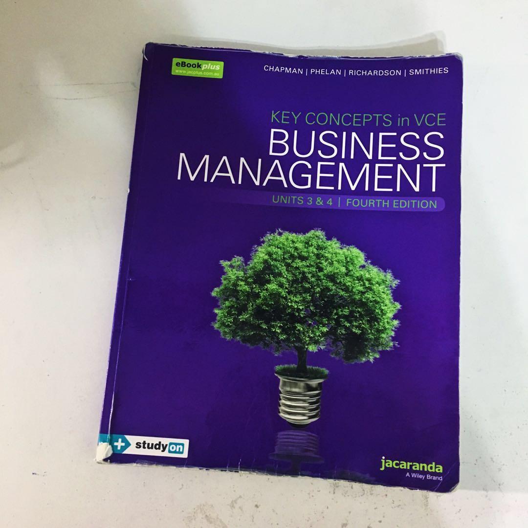 Business Management Jacaranda textbook - Units 3&4
