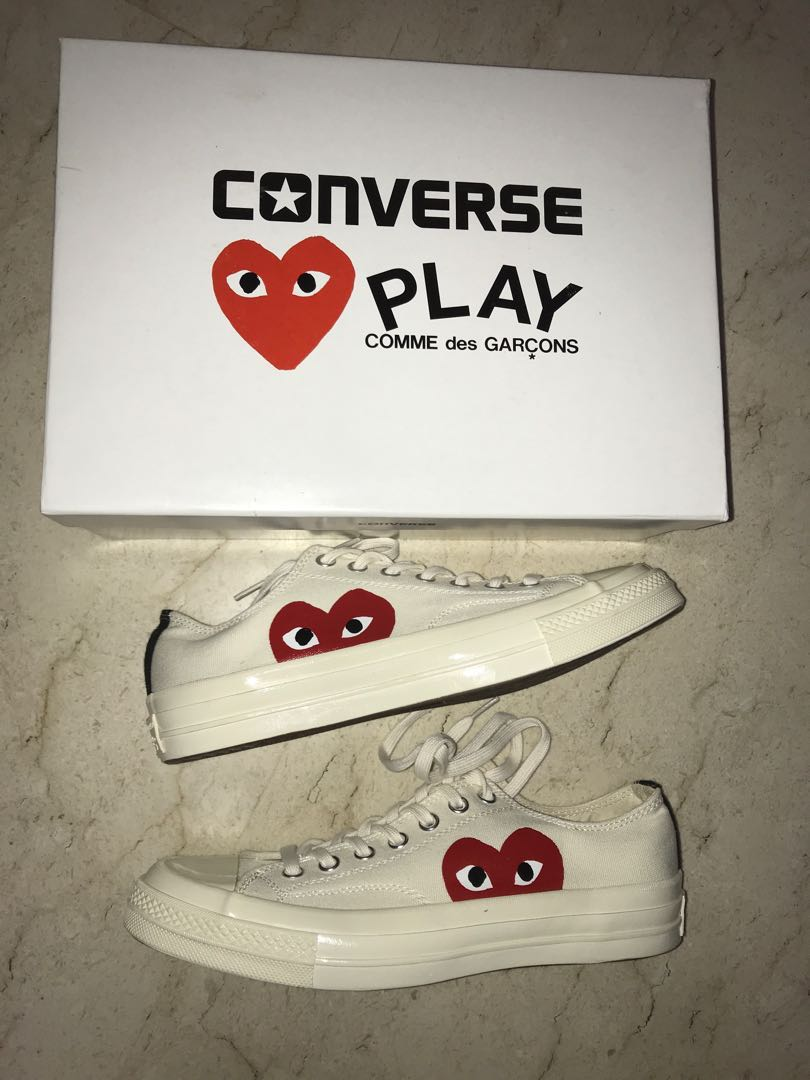 726adc9f0d56 CHEAP  CDG Play X Converse Low White Sneakers