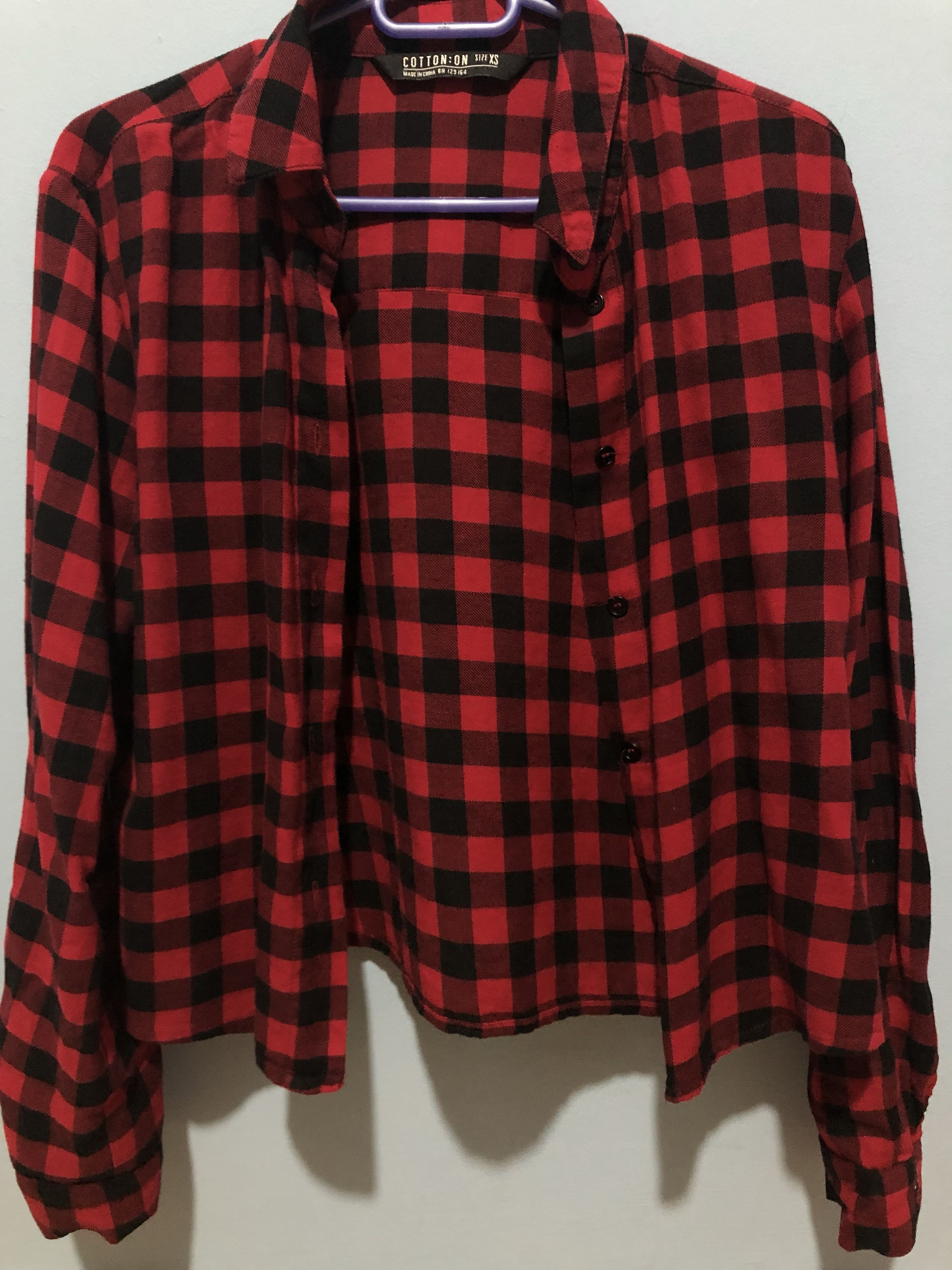 90315195 Checkered Flannel, Women's Fashion, Clothes, Tops on Carousell