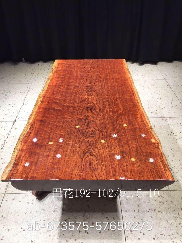 China supplier natural raw slab table top bubinga