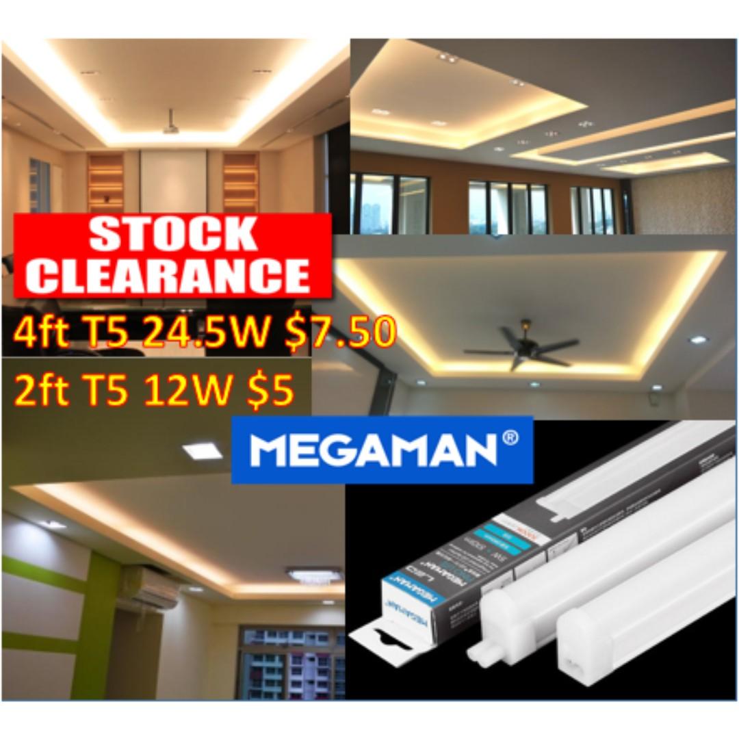[Clearance Price] Megaman T5 LED tube/ LED batten for cove light/ Cabinet  light
