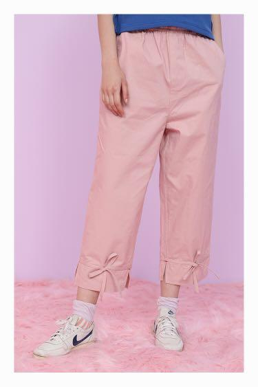 Cute Kawaii Pink Bow Japan Japanese Ruffle Ruffles Pants Trousers