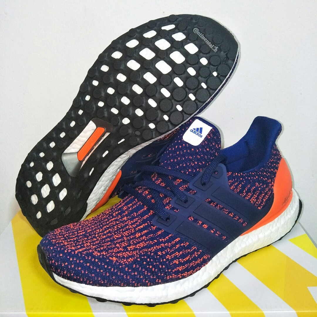d079d7a89 🌊INSTOCK🌊 ADIDAS ULTRA BOOST ULTRABOOST 3.0 MYSTIC MYSTERY INK   BLUE  SOLAR ORANGE
