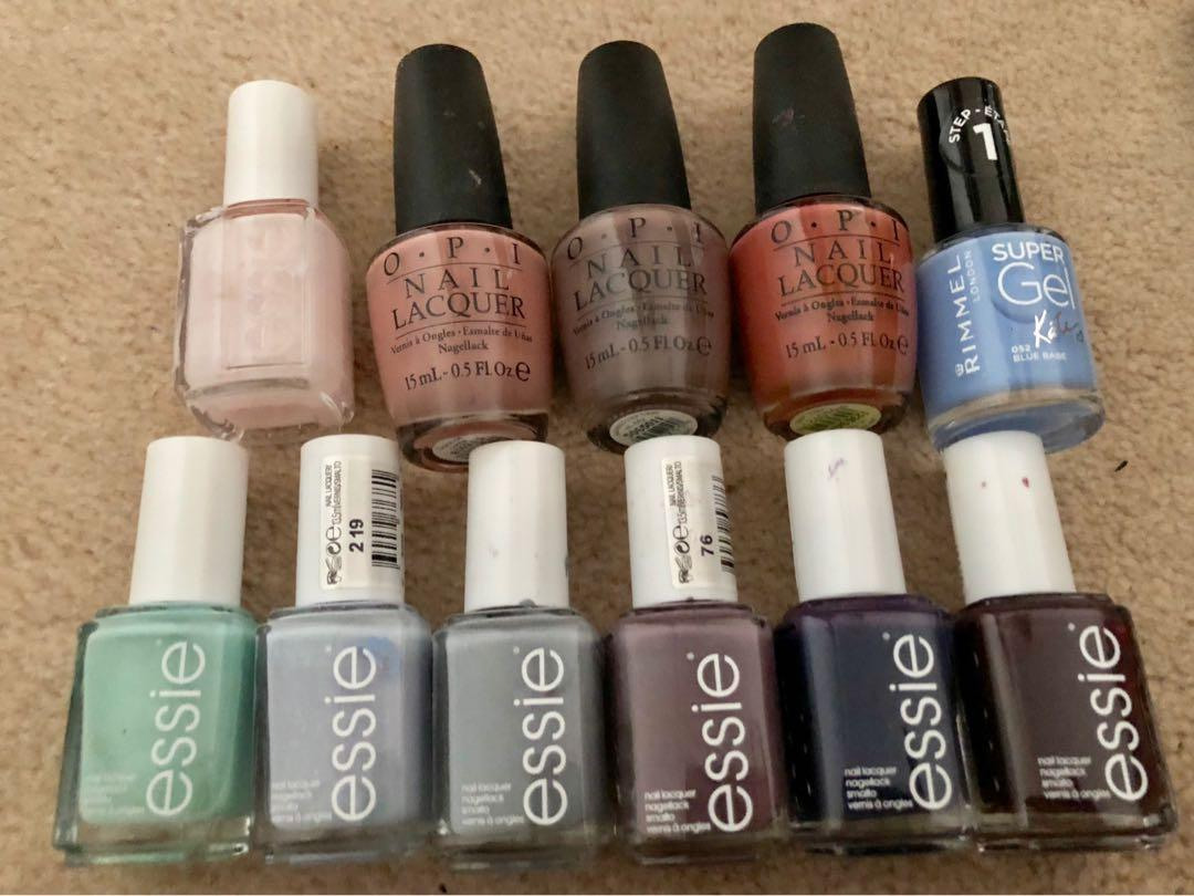 Essie and Opi nails polishes