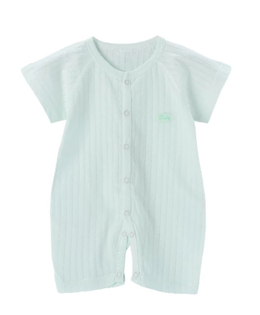 e7991f7ae9a1 [In Stock] Mesh Cotton baby romper onesie one piece bodysuit clothes  turquoise, Babies & Kids, Babies Apparel on Carousell