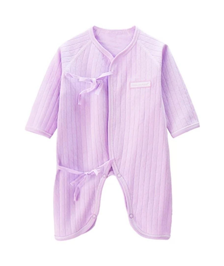 7163a62a52fa [In Stock] Mesh cotton baby romper onesie one piece bodysuit purple on  Carousell