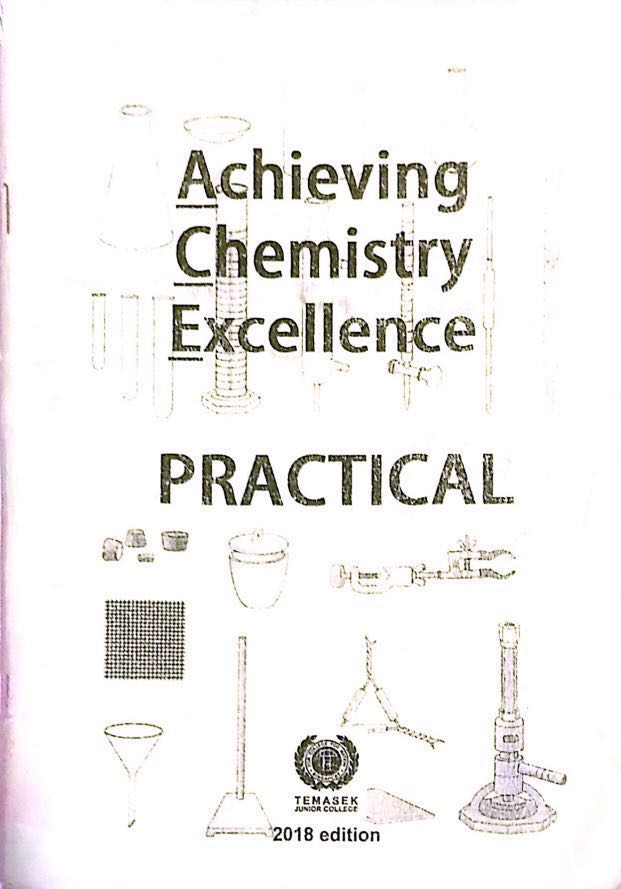 JC H2 Chemistry Practical Book 2018 Edition