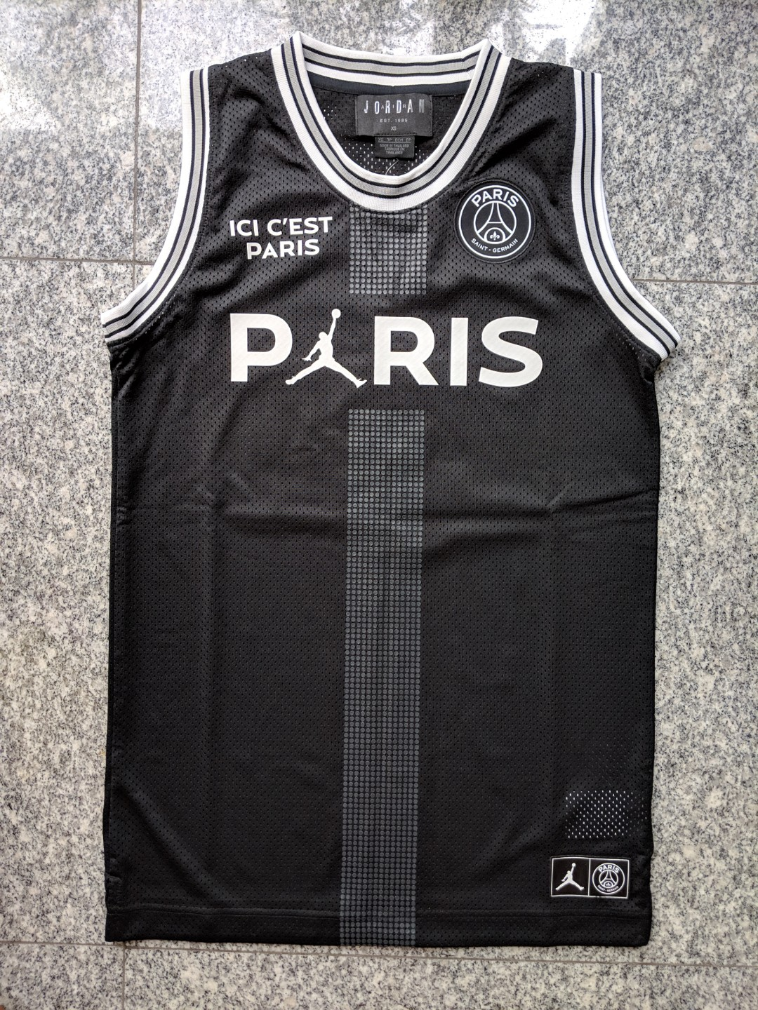 370400bd263b INSTOCK  Jordan x PSG limited edition collaboration basketball jersey as  worn by Neymar