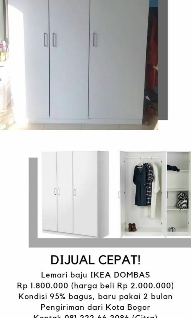 Lemari Pakaian Ikea Home Furniture On Carousell