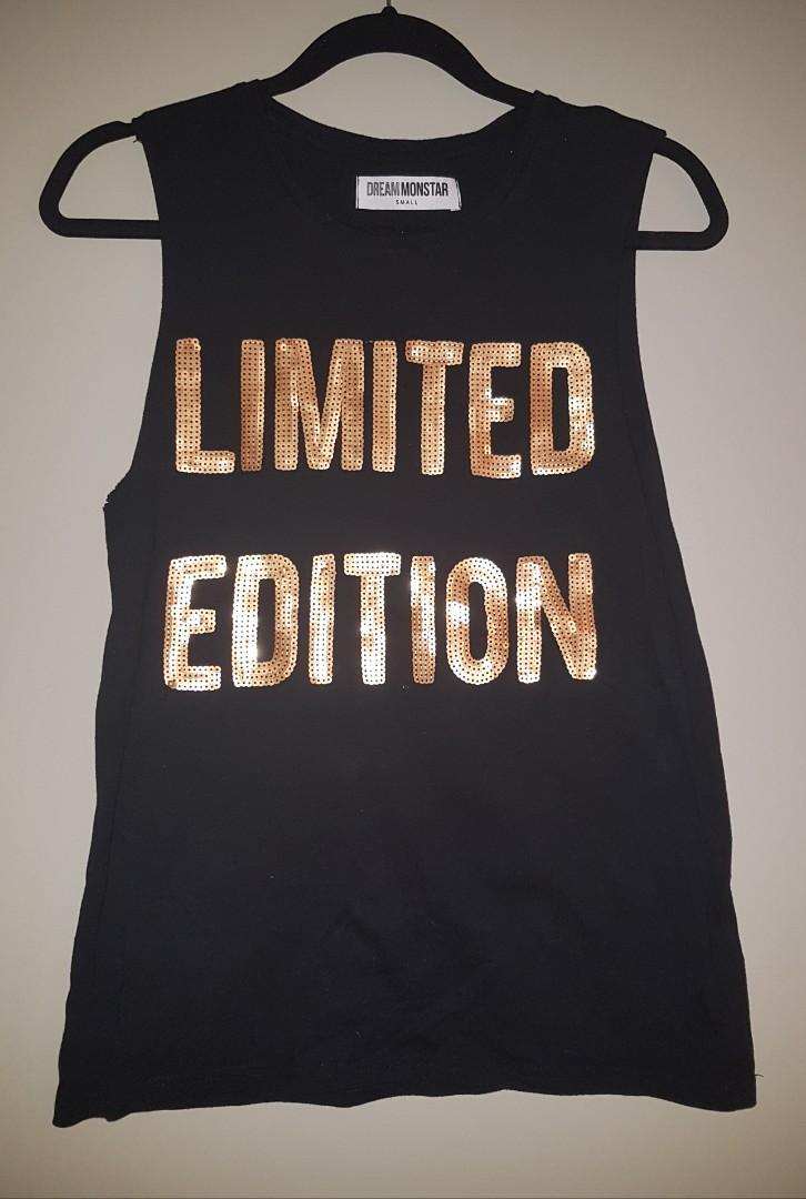 LIMITED EDITION * BLACK WOMEN'S TOP * SIZE SMALL