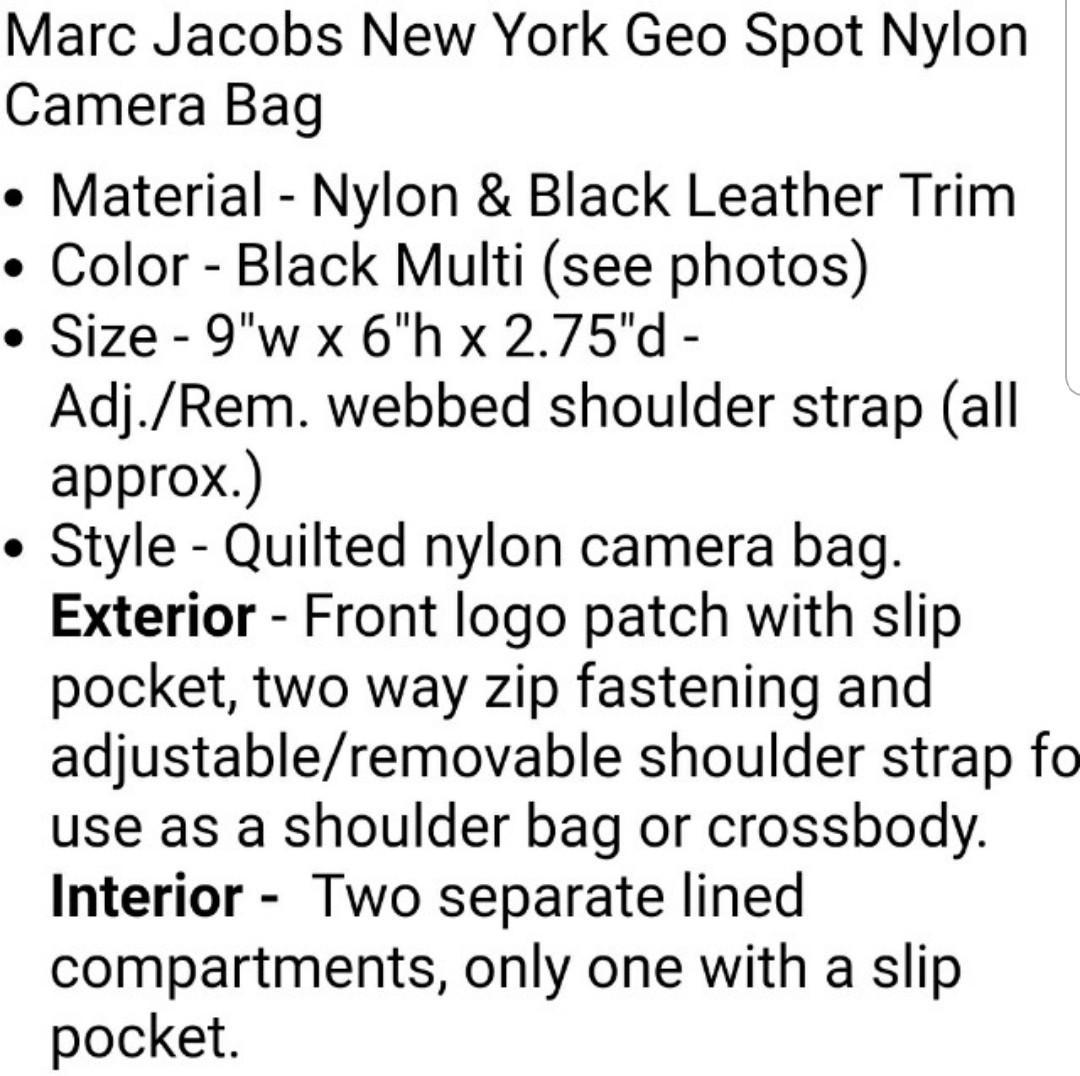 Marc jacobs尼龍相機袋