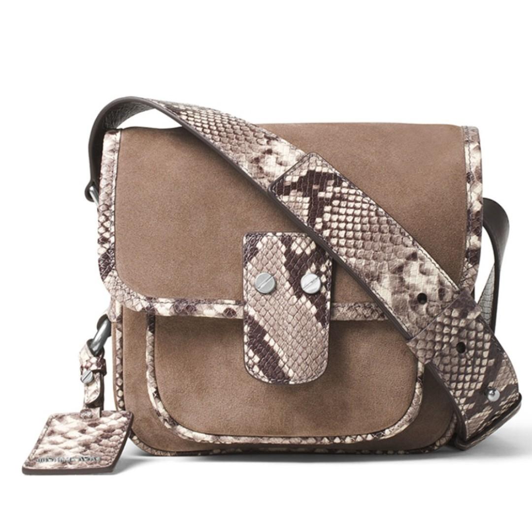 fc3abbcc7071 New Michael Kors Women's Hewitt Crossbody Sling Bag Leather (Dark ...