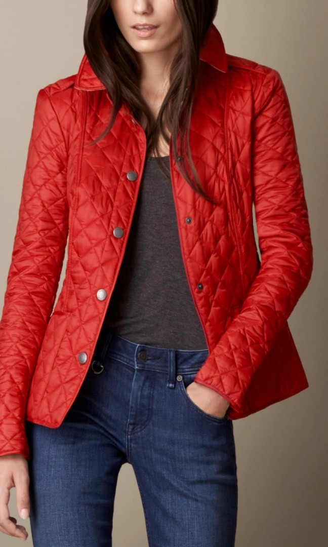 8565f362fa57 New-Burberry Women s Quilted Jacket Parade In Military Red