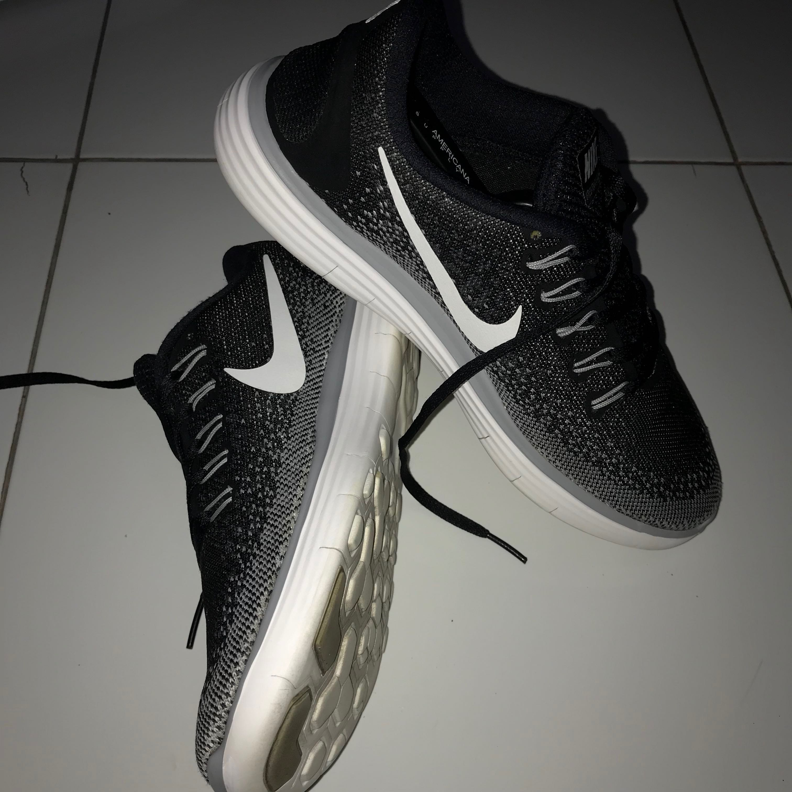 competitive price 2fe9b a46dd Nike Free RN Distance Black White - Dark Grey Wolf Grey (Authentic ...