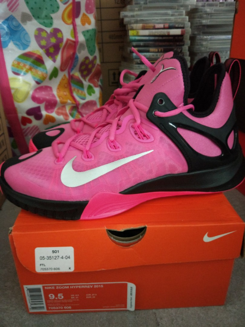 new photos 71100 cd961 Nike Hyperrev 2015 Pink Ribbon Edition, Men's Fashion, Footwear ...