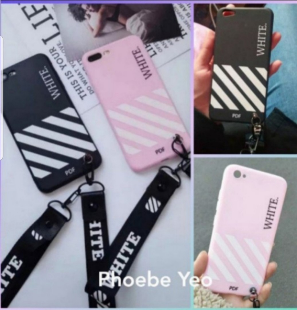get cheap 21f99 bc0c6 Off-white iPhone / Oppo Phone Case with lanyard