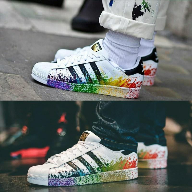 PO: ADIDAS SUPERSTAR COLOUR SPLASH, Men's Fashion on Carousell