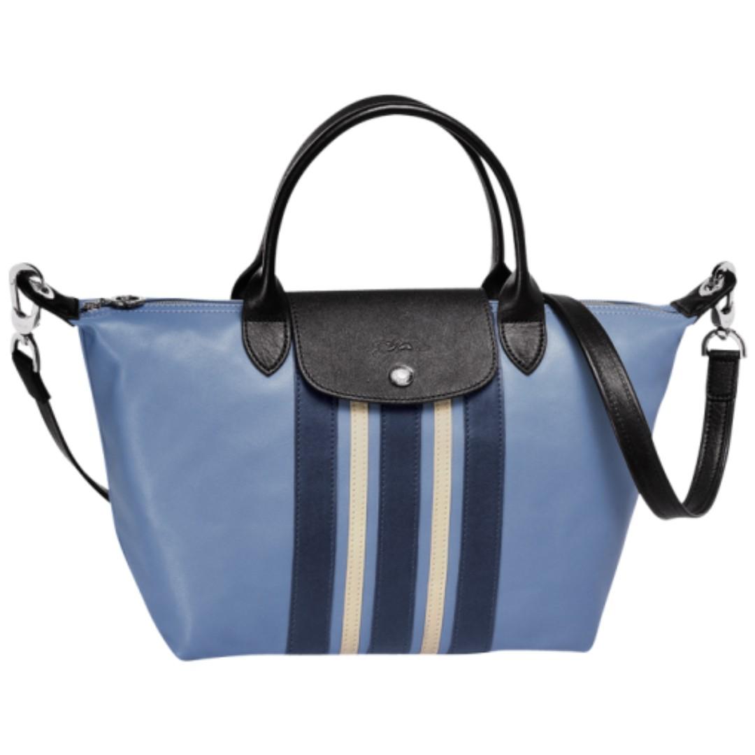 1155833a90 PO] Longchamp Le Pliage Cuir Raye - Small, Luxury, Bags & Wallets ...