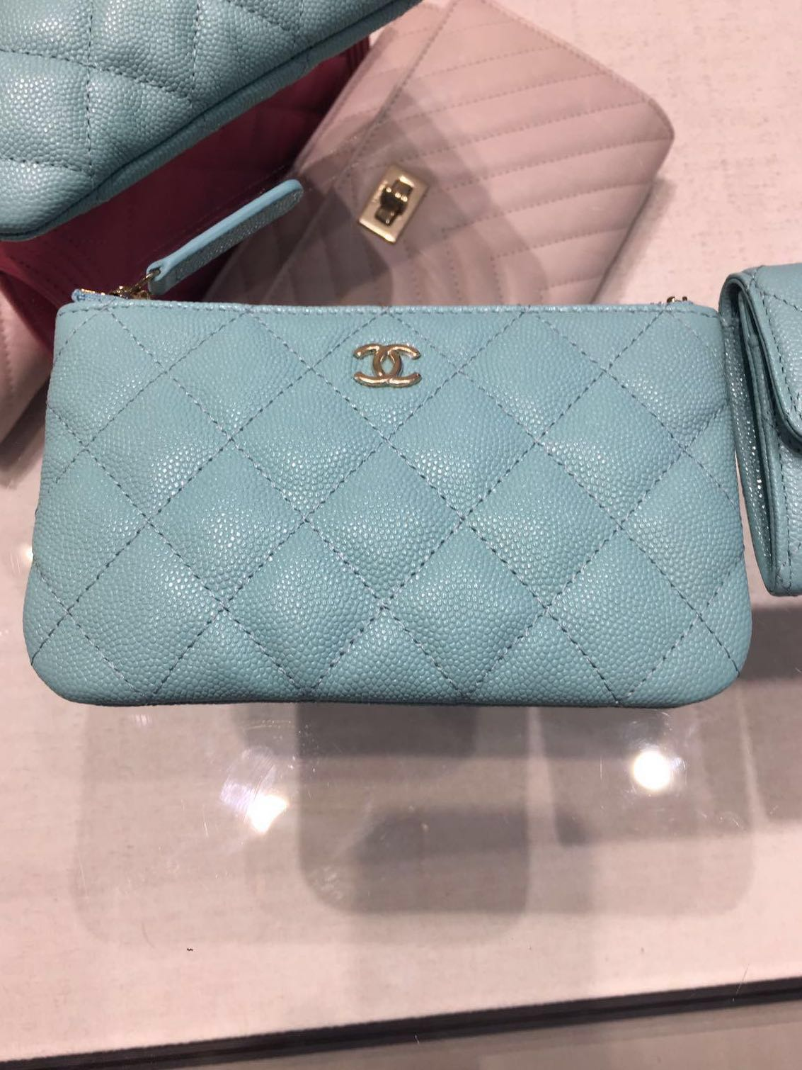 8f486c0f2935 Reserved ‼ ) Chanel Mini O Case 19C Tiffany blue caviar, Luxury ...