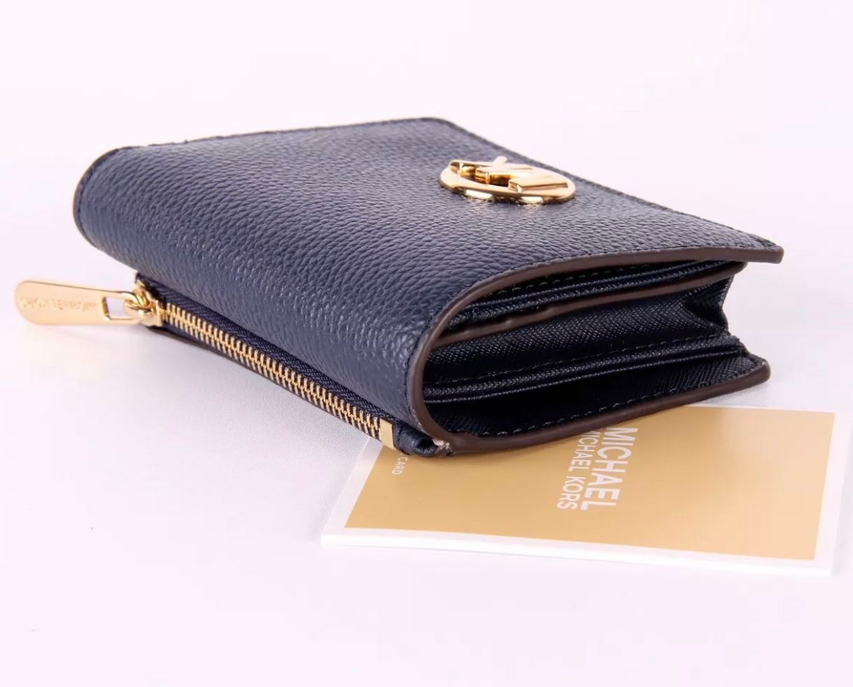 b406e9fbcae64c Sale: New Michael Kors Fulton Leather Card Case Coin Purse Wallet ...