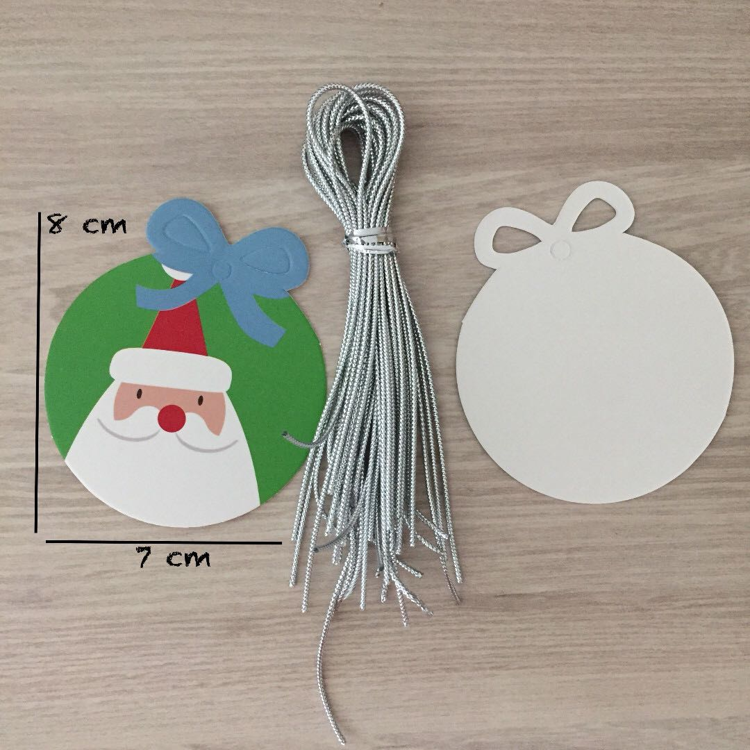 photo photo photo photo & Santa Claus Gift Tag with String x20pcs Design u0026 Craft Others on ...