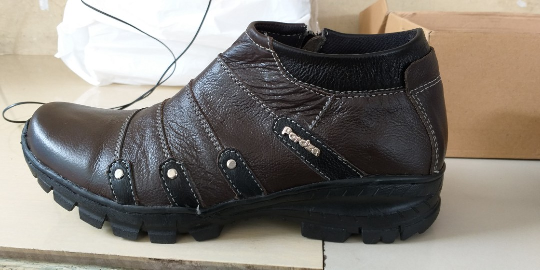 Sepatu boots pria touring casual kulit asli resleting 0e8dd87010