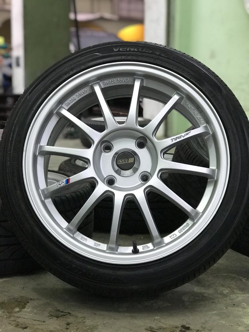 Ssr type f 17 inch sports rim persona tyre 80%