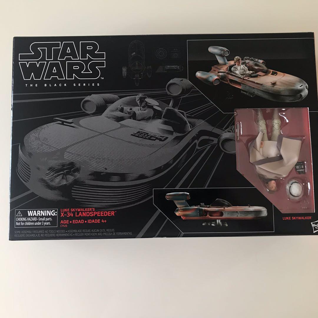 STAR WARS Black Series Luke Skywalker X-34 Landspeeder. UPSIDE DOWN ORIGINALLY!!