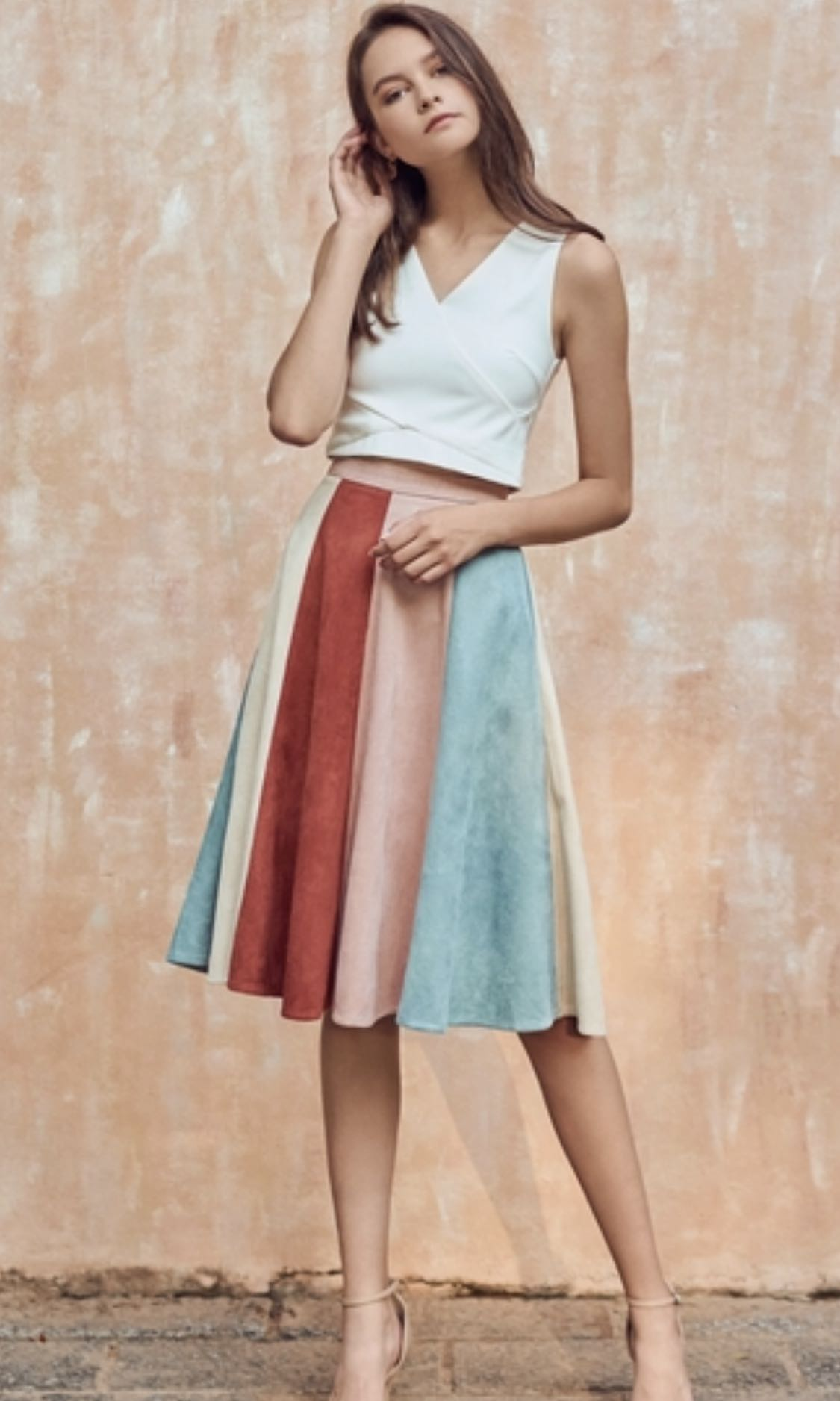 5589a21a063d TCL - Lucina Suede Midi Skirt in Pink