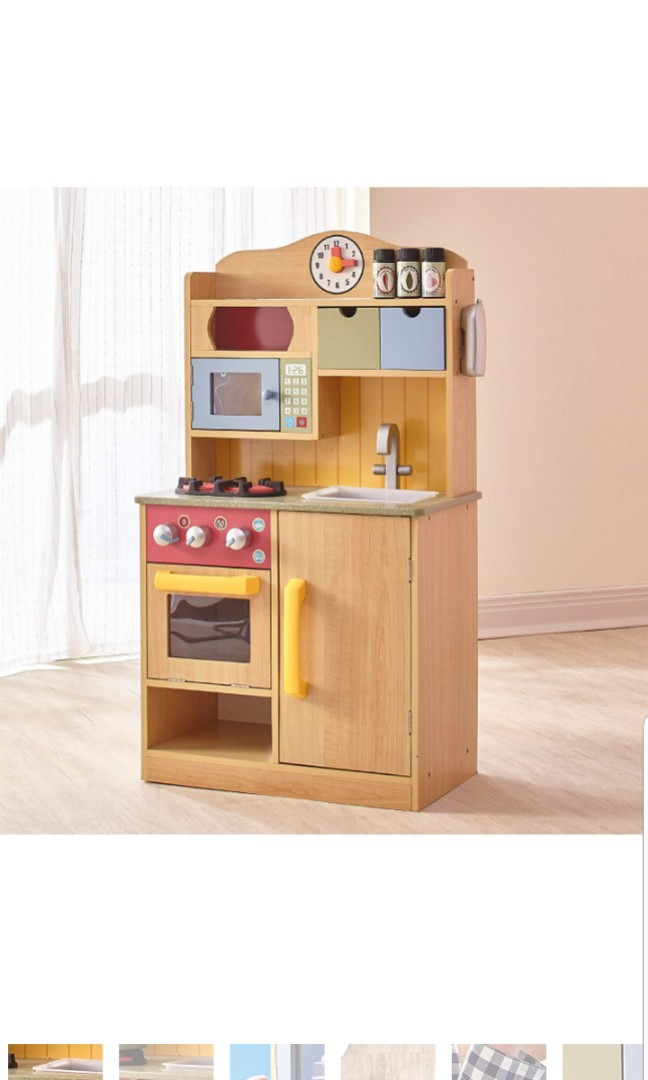 Teamson Kids Burlywood Pretend Play Kids Childrens Boys Girls Wooden Play Pretend Kitchen