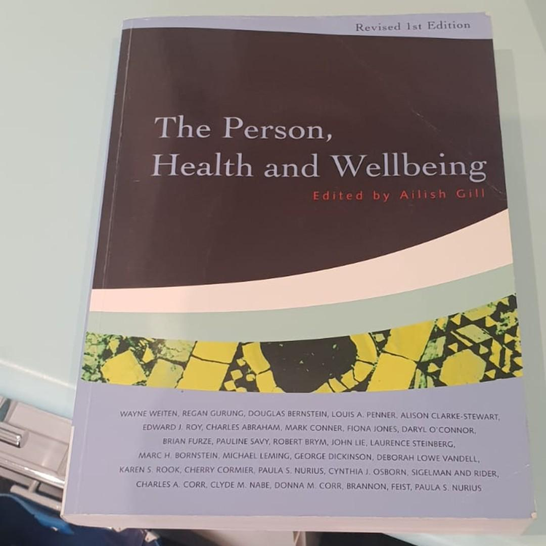 The Person, Health and Wellbeing Revised 1st Edition