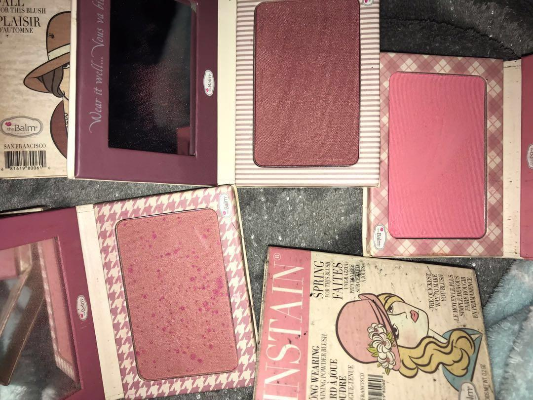 theBalm Instain blushes in Toile, Swiss Dot, Lace, Houndstooth, Pinstripe, Argyle