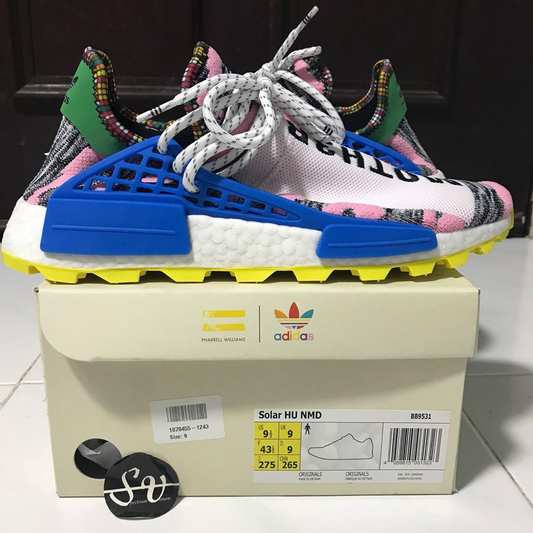 "332fd89d61748 US 9.5 Adidas Human Race Pharrell Williams Solar Pack Pink ""Mother ..."