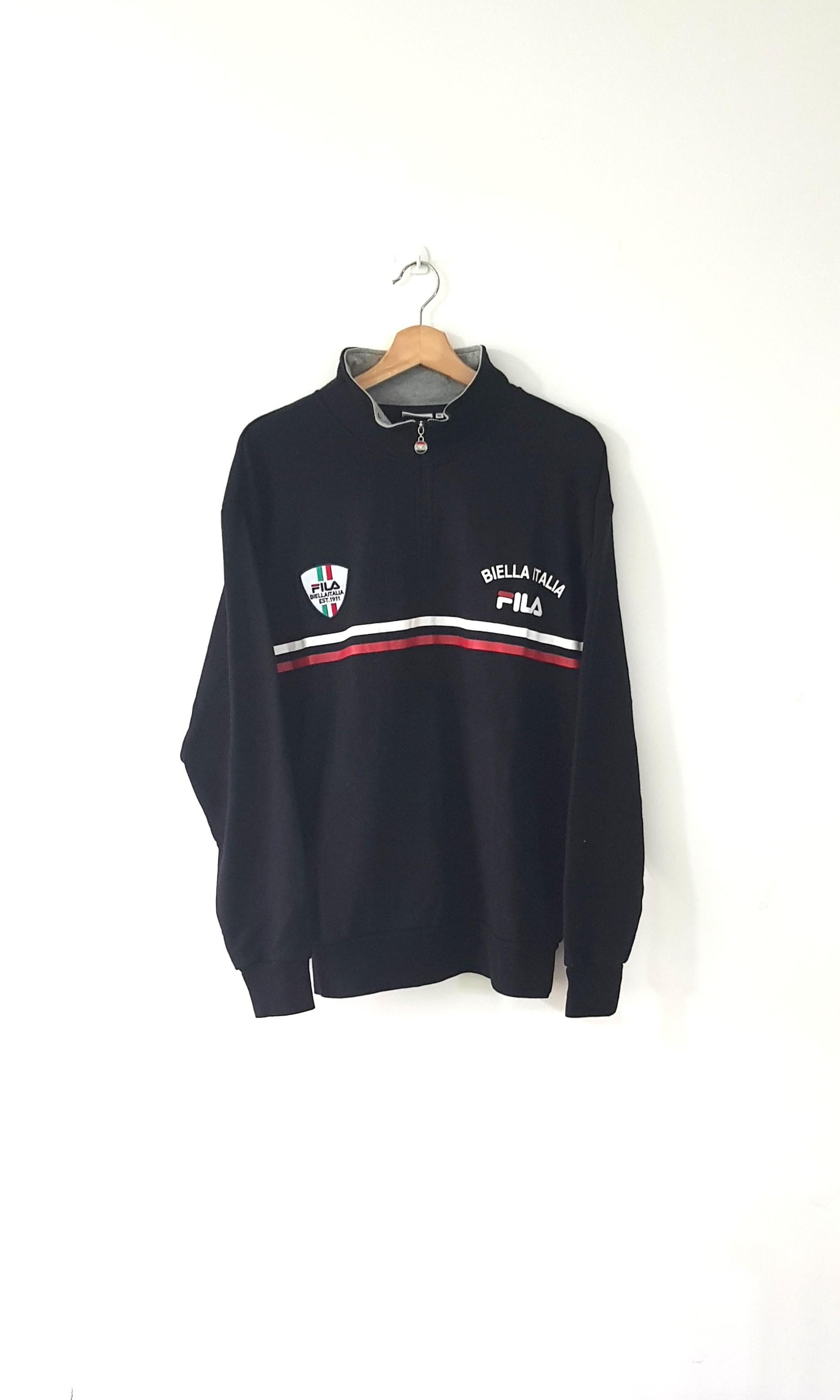 0e259930c4d1 Vintage Fila Half Zip Sweatshirt, Men's Fashion, Clothes, Tops on ...