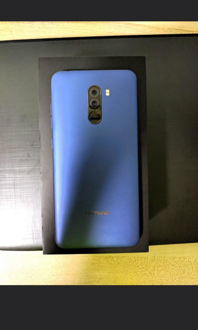 WTT Xiaomi Pocophone F1 64gb blue, Mobile Phones & Tablets